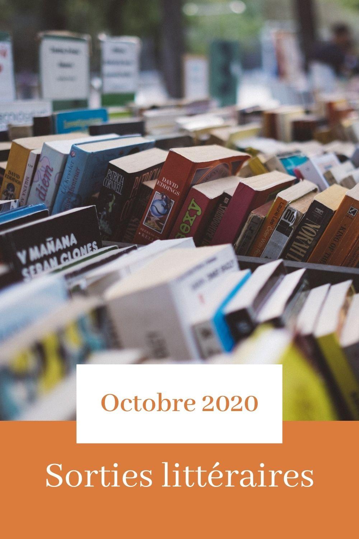 Les sorties littéraires d'octobre 2020 sur le blog littéraire Parlons fiction