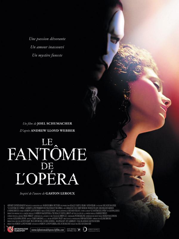 Affiche du film Le Fantôme de l'Opéra sur le blog culturel Parlons fiction